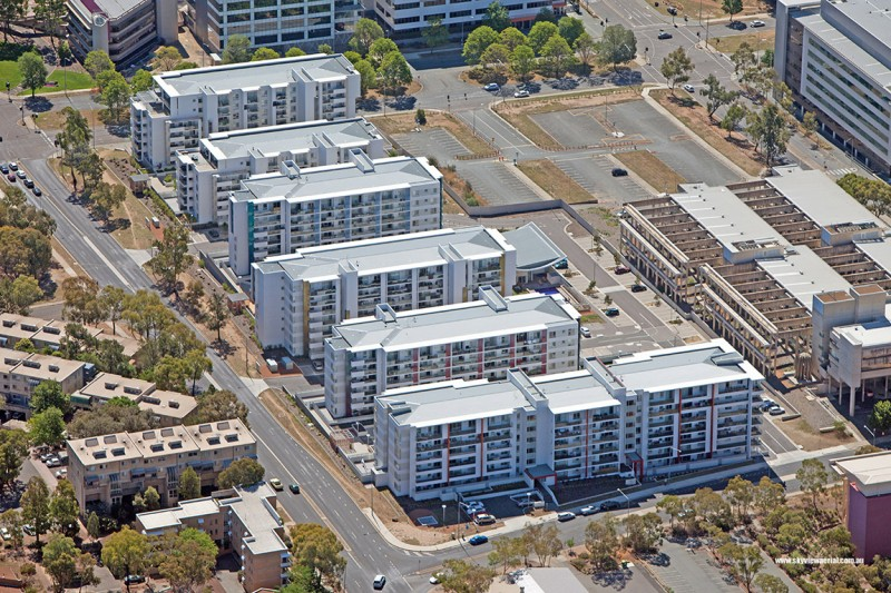 Oracle Apartments, Belconnen ACT Aerial View